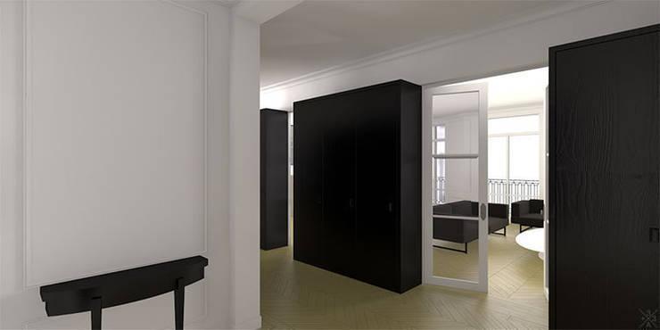 Rénovation Appartement Haussmannien - Champ de Mars: Cuisine de style  par +33architectes