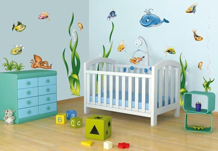 modern Nursery/kid's room by K&L Wall Art