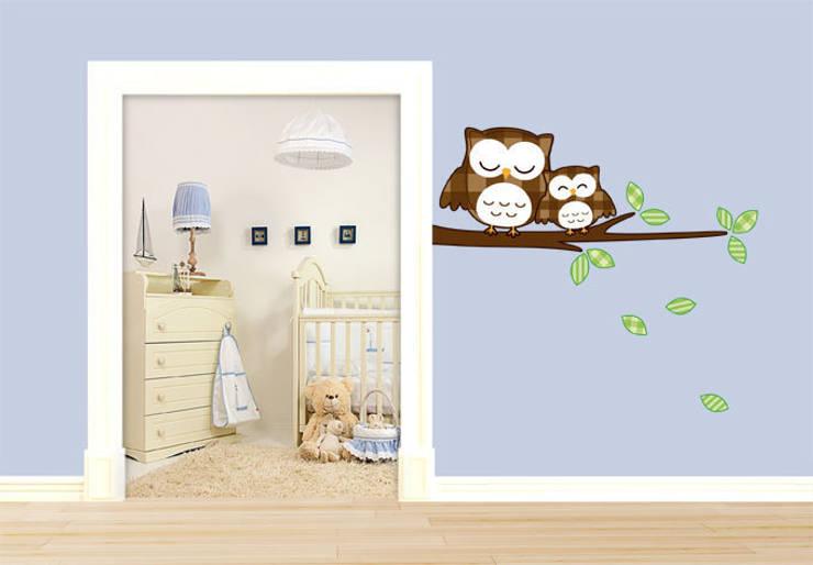 Wandtattoo - Schlummereulen :  Kinderzimmer von K&L Wall Art
