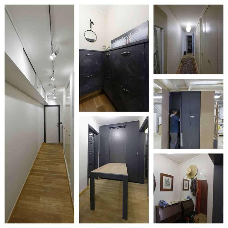 Vestibule, entrée & couloir: Salle à manger de style de style Industriel par Design By Solène Utard