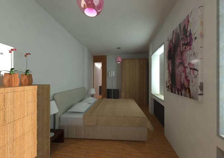 REFORMA DE VIVIENDA EN PASEO DEL ESPOLÓN EN LOGROÑO, LA RIOJA: Casas de estilo moderno de THINKING OF COLORS