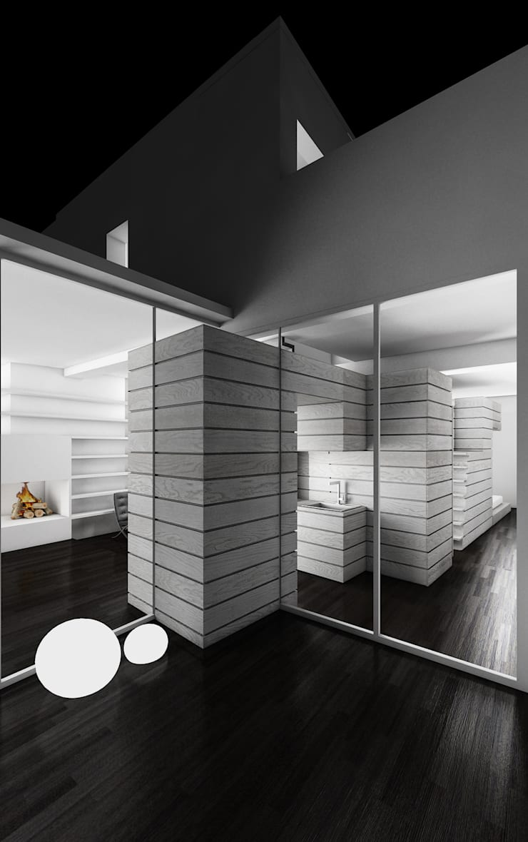CASA DEL FILOSOFO: Terrazza in stile  di DELISABATINI architetti