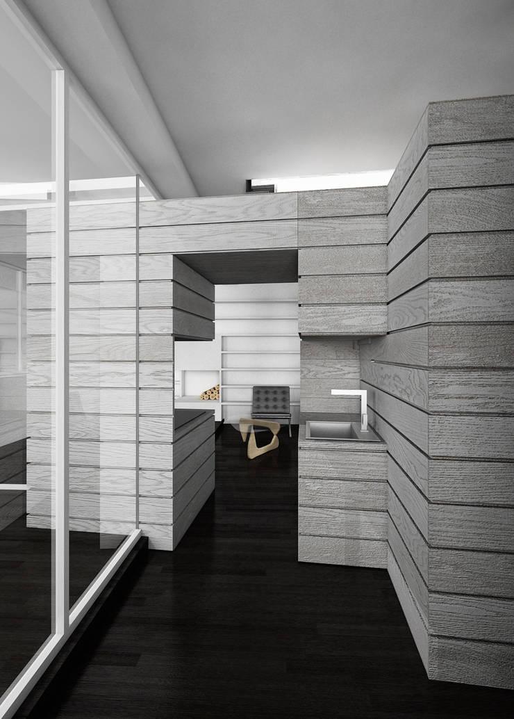 CASA DEL FILOSOFO: Ingresso & Corridoio in stile  di DELISABATINI architetti