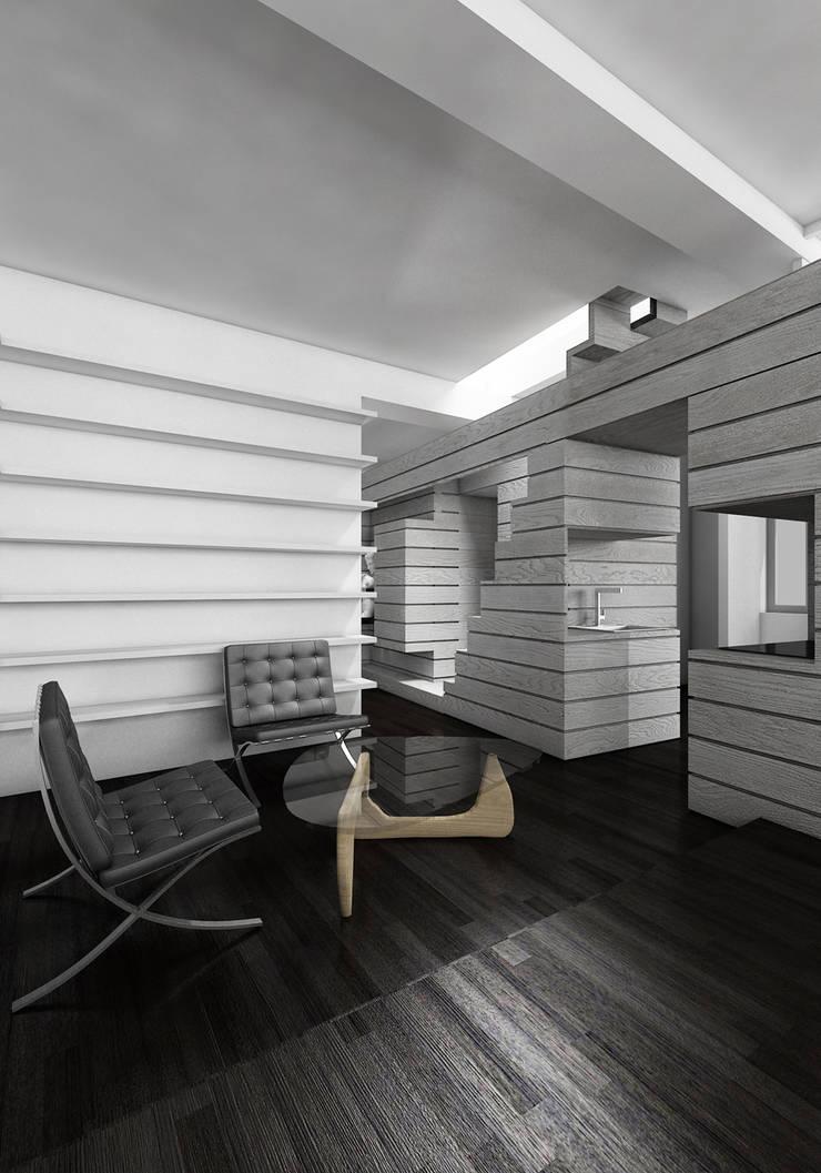 CASA DEL FILOSOFO: Soggiorno in stile  di DELISABATINI architetti