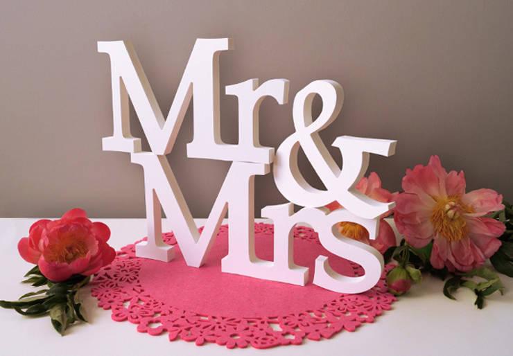 Dekobuchstaben - 3D Mr & Mrs -Serife- :  Wohnzimmer von K&L Wall Art