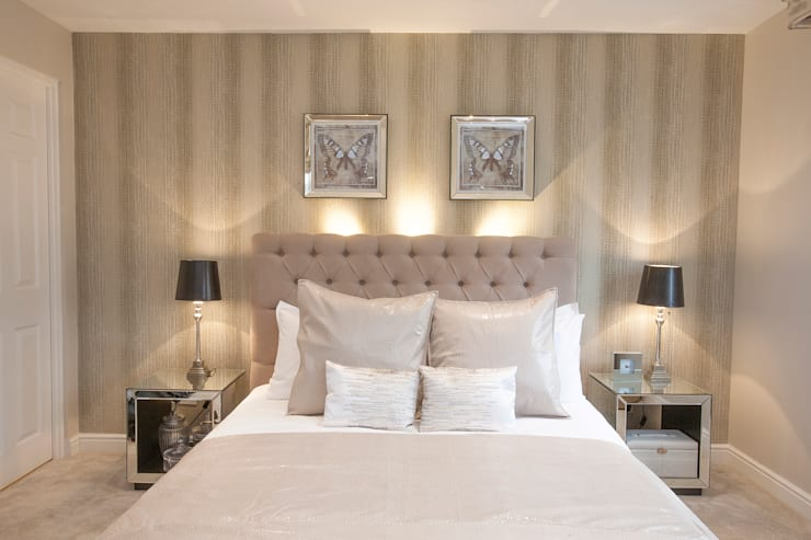 Bedroom _ Canary Wharf:  Bedroom by Millennium Interior Designers