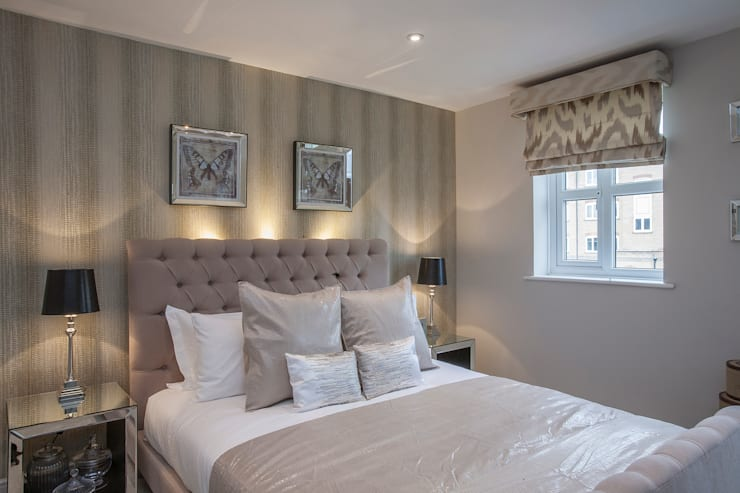 Bedroom _ Canary Wharf: classic Bedroom by Millennium Interior Designers