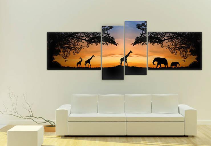 Acrylglasbilder - African Sunset (4-teilig) :  Wände & Boden von K&L Wall Art