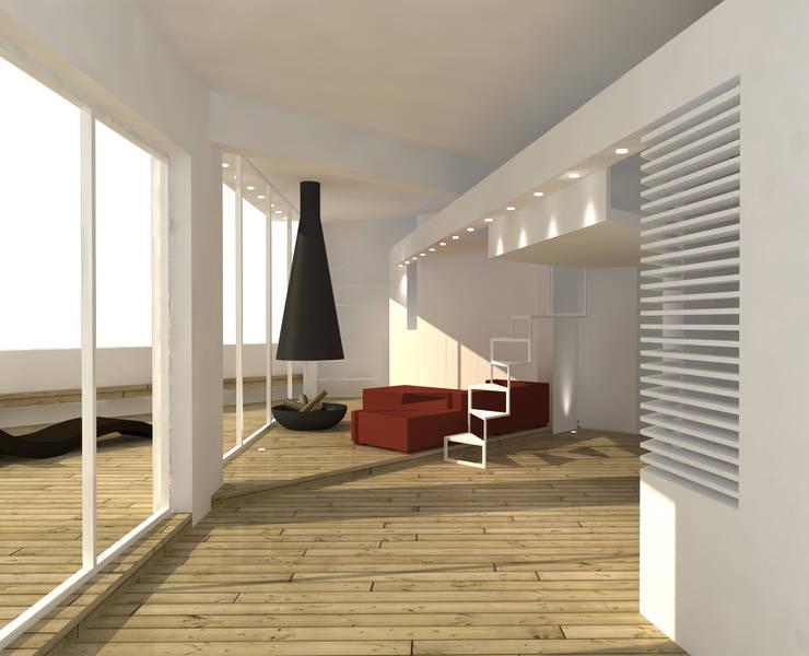 LOFT: Ingresso, Corridoio & Scale in stile  di DELISABATINI architetti