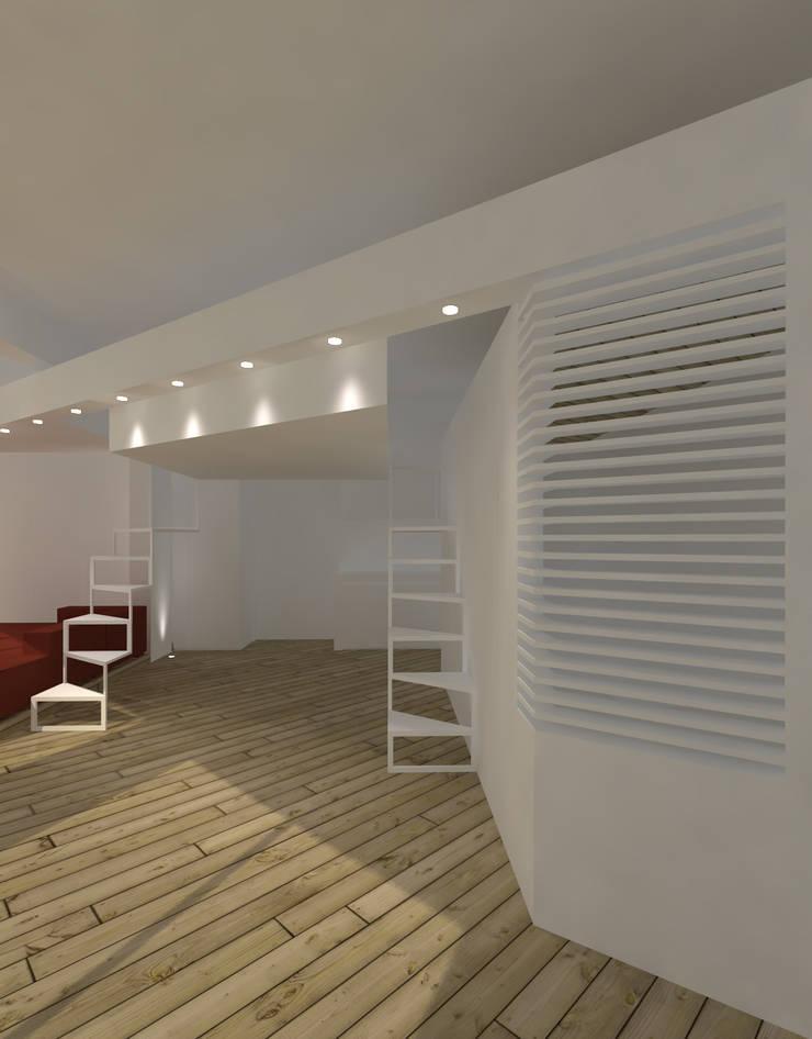 LOFT: Ingresso & Corridoio in stile  di DELISABATINI architetti