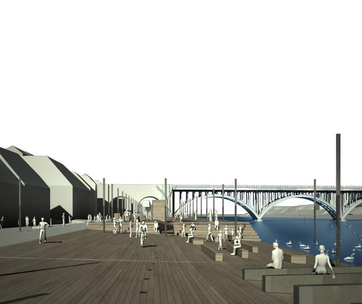 MARIBOR – EPK 2012 – EMBANKMENT OF THE RIVER DRAVA:  in stile  di DELISABATINI architetti