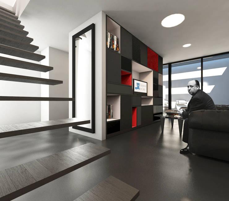 Wohnzimmer von Q:NØ Arquitectos ,