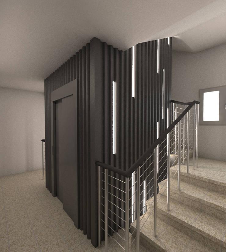 Corridor & hallway by Q:NØ Arquitectos , Industrial