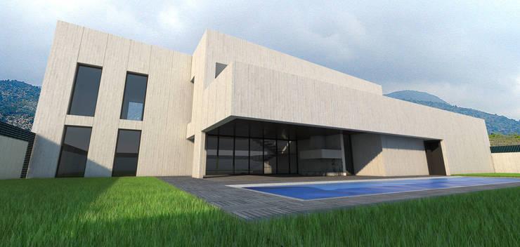 Case in stile in stile Moderno di Q:NØ Arquitectos