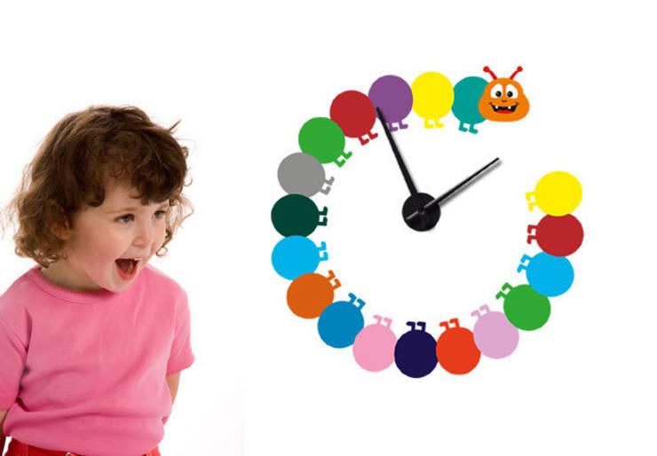 Bunte Raupe Uhr : ausgefallene Kinderzimmer von K&L Wall Art