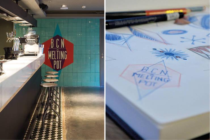 Bares y Clubs de estilo  por LabMatic Estudio