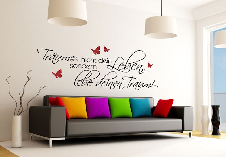 Wandtattoo - Träume nicht dein Leben... 5 (2-farbig):   von K&L Wall Art,Ausgefallen