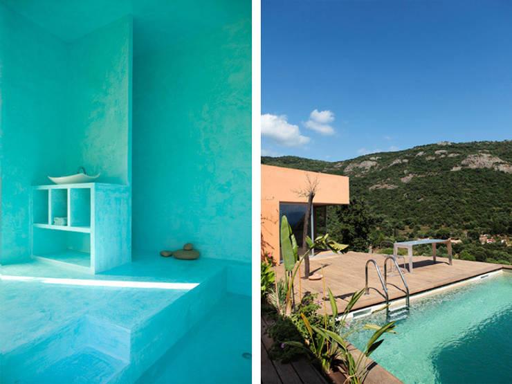 Villa Isaky: Piscines  de style  par Paul Franceschi