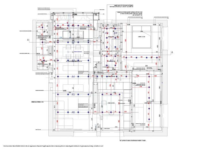 Ristrutturazione appartamento per un fotografo: Case in stile  di Studio RBA