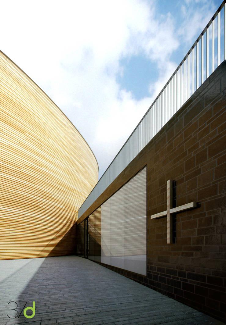 Kamppi Chapel of Silence – k2s Architects: Museos de estilo  de 37d Architecture Office