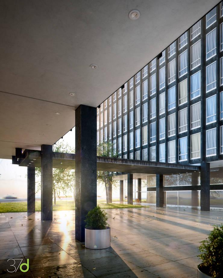 Lake Shore Drive – Mies van der Rohe: Edificios de oficinas de estilo  de 37d Architecture Office