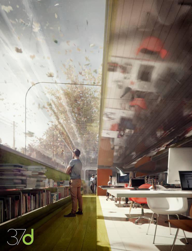 The Green Office: Edificios de oficinas de estilo  de 37d Architecture Office