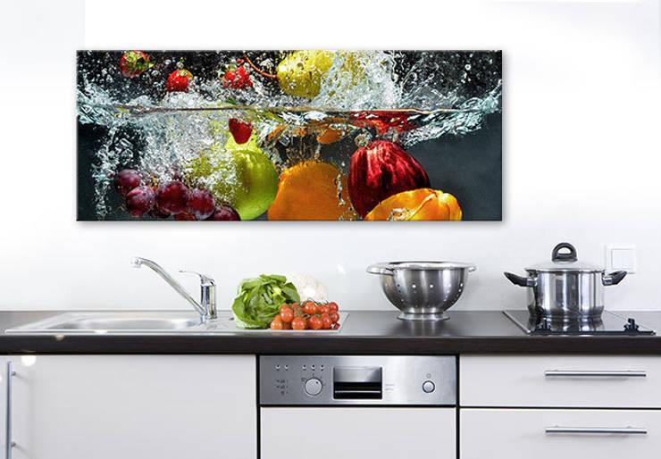 Acrylglasbild - Erfrischendes Obst Panorama :  Wände & Boden von K&L Wall Art