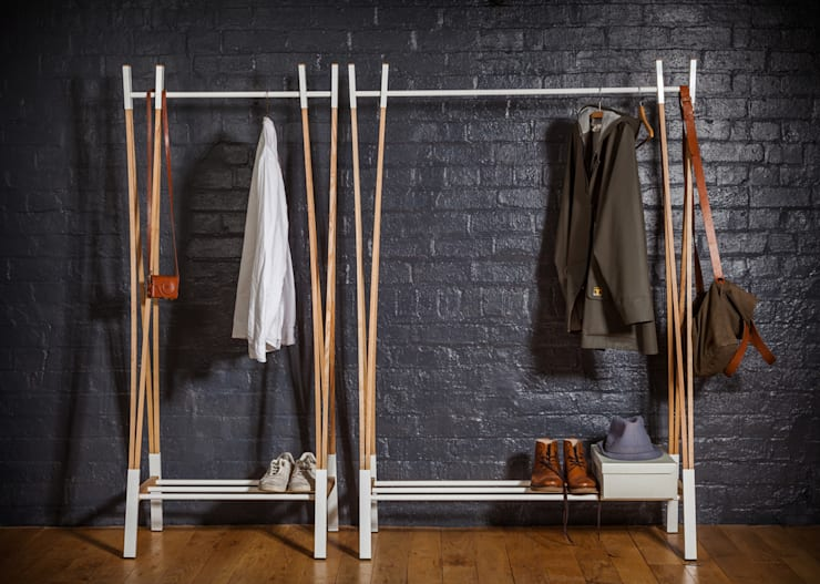Kaori Clothes Rail:  Bedroom by Raskl. Design Studio & Workshop