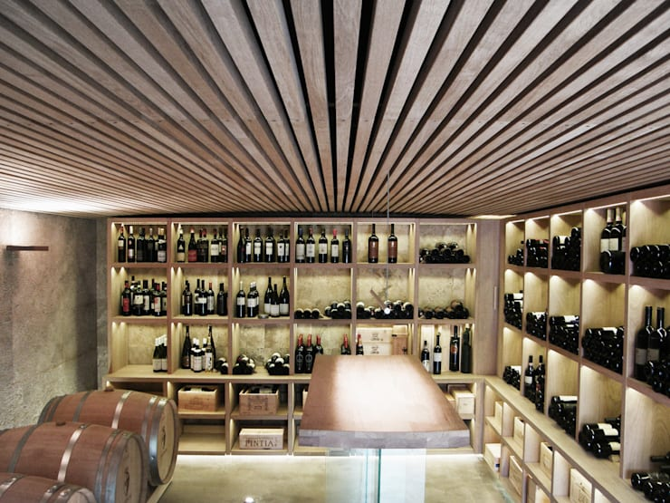 modern Wine cellar by msplus architettura