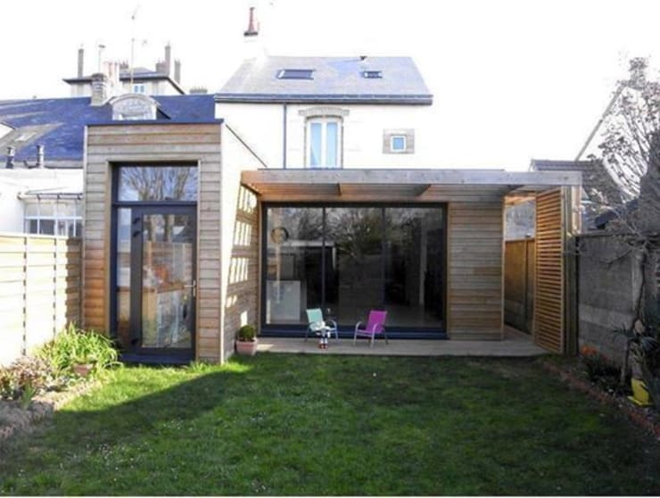 Casas de estilo  por Allegre + Bonandrini architectes DPLG,