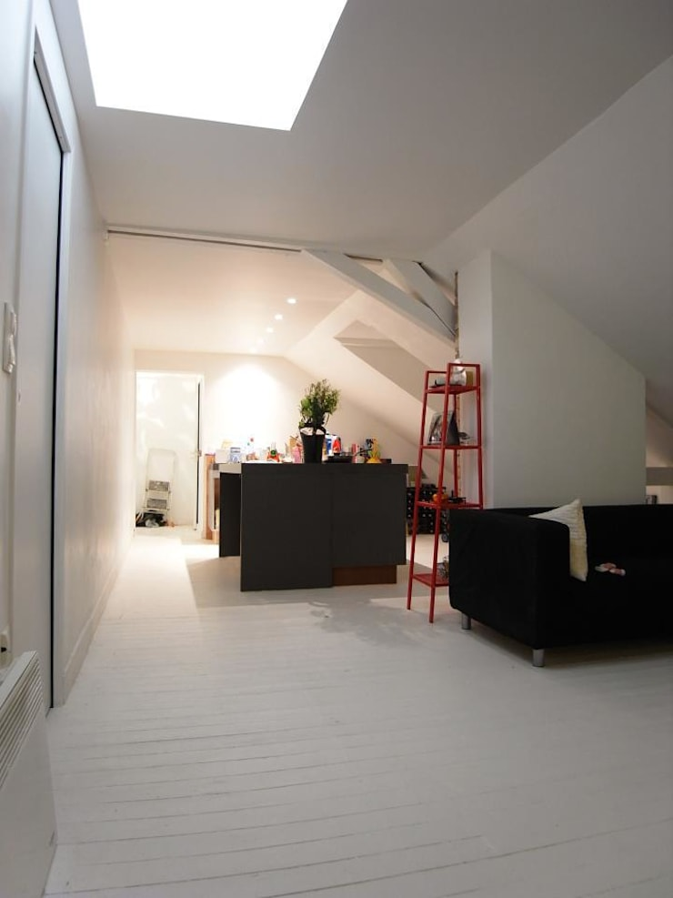 Salas de estilo  por Allegre + Bonandrini architectes DPLG,