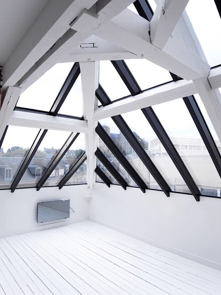 Terrazas de estilo  por Allegre + Bonandrini architectes DPLG,