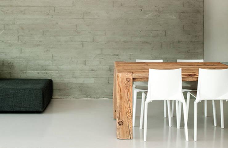 ampliamento casa R: Sala da pranzo in stile in stile Moderno di michele roccabruna architetto