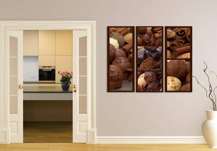 Acrylglasbilder - Schokoladentraum (3-teilig) :  Wände & Boden von K&L Wall Art