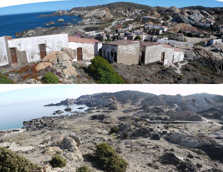 Comparativa' Pla de Tudela' : Casas de estilo  de EMF - landscape architecture