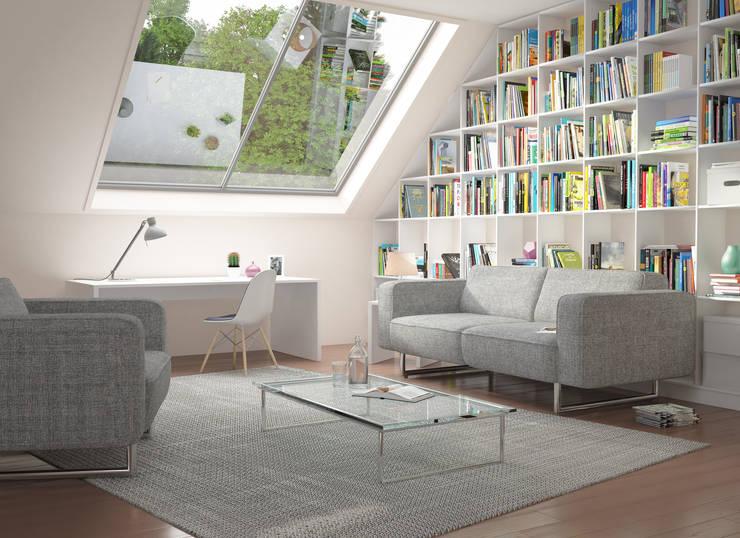 Salas de estar modernas por deinSchrank.de GmbH