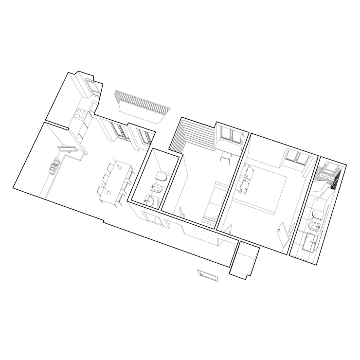 casa YM:  in stile  di Gru architetti