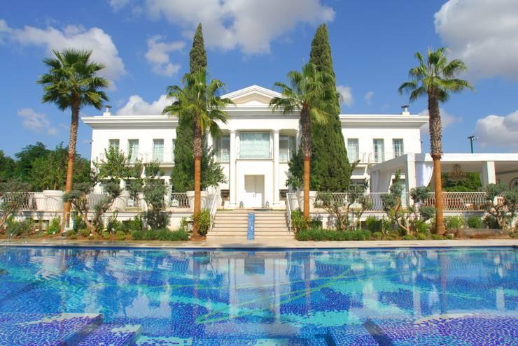 Villa in Tel Aviv: Piscina in stile  di Scultura & Design S.r.l.