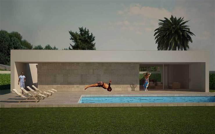 casa f:  in stile  di morana+rao architetti