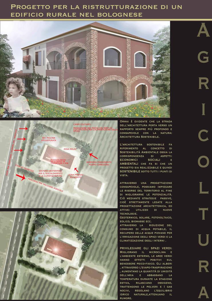 Ristrutturazione di un edificio rurale nel bolognese: Case in stile In stile Country di Libero professionista