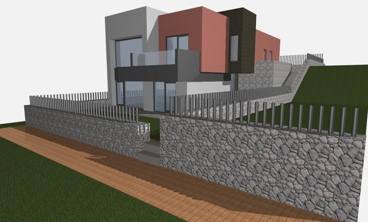 VIVIENDA:  de estilo  de AUGE Consultores Arquitectos