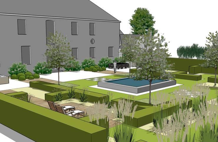 Jardins de Campagne: Jardin de style de style Classique par Landscapes & Cie