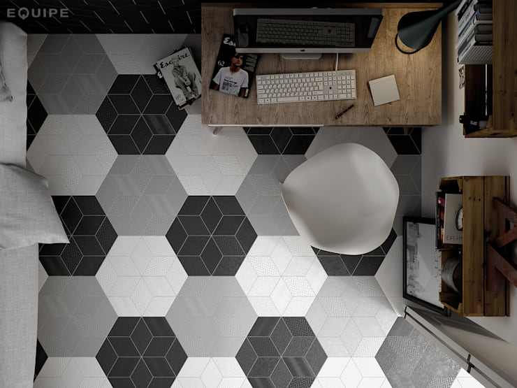 Study/office by Equipe Ceramicas,