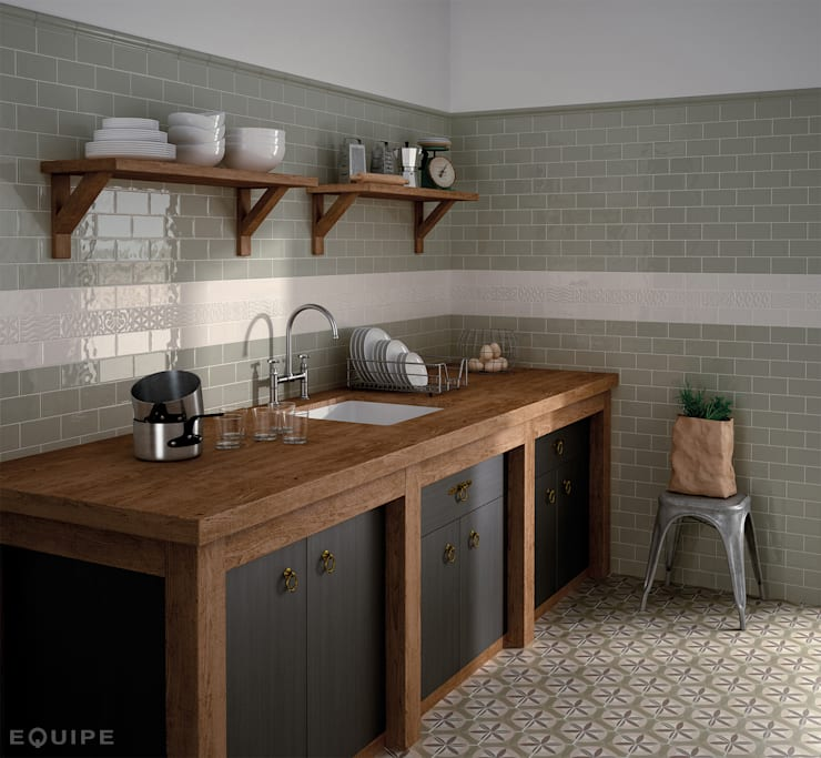rustic Kitchen by Equipe Ceramicas