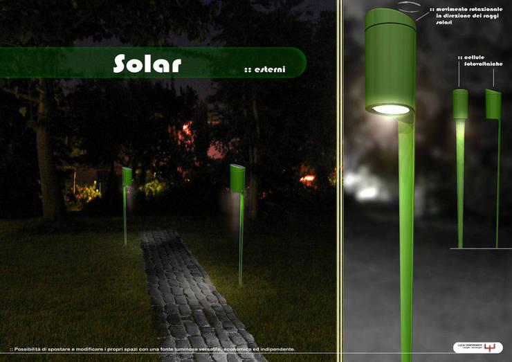 Solar: Giardino in stile in stile Industriale di Luca Centofante Design Studio