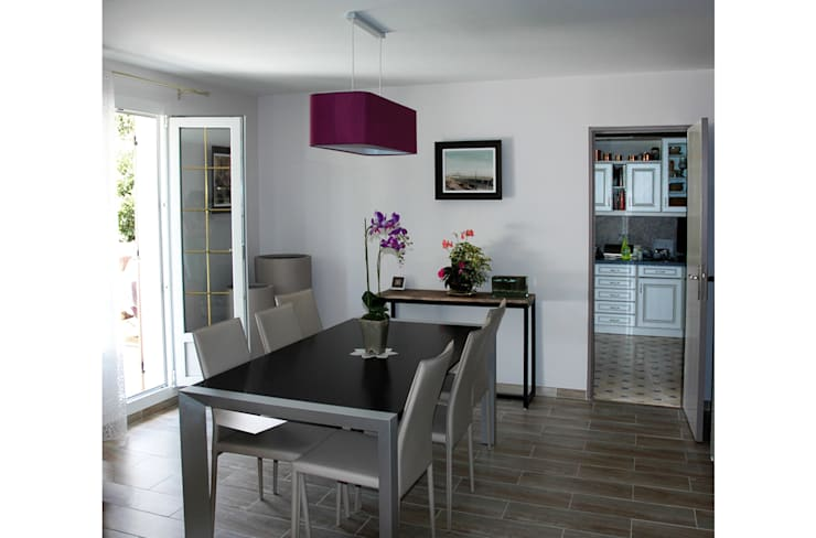 Décoration /Rénovation d'un pavillon : Salon de style de style Moderne par Laurence Boudet Architecture d'intérieur et décoration