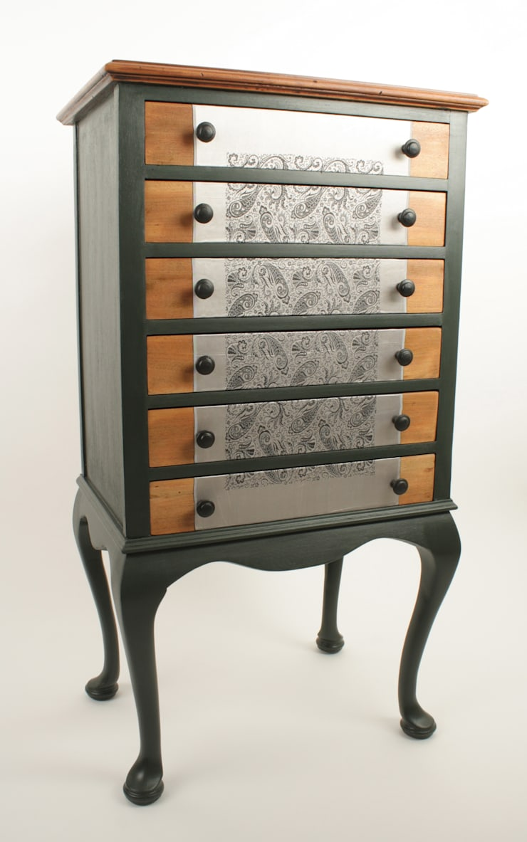 Upcycled Edwardian music cabinet: eclectic Living room by Narcissus Road Furniture Design