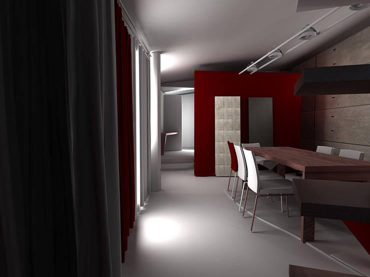 mansarda loft: Soggiorno in stile  di linea contemporanea  home, Moderno
