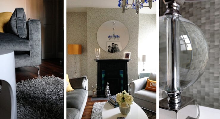 Industrial chic:  Living room by Kate Lovejoy Interiors