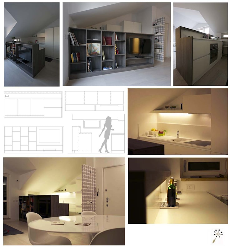 disegno d'arredo : Camera da letto in stile  di bloom graficamentearchitettato